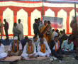 MLA stages dharna, demands second bridge over Bramhani